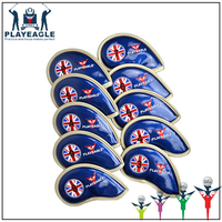 Club Iron Putter Head Protector PU Leather Golf Head Covers Custom Logo