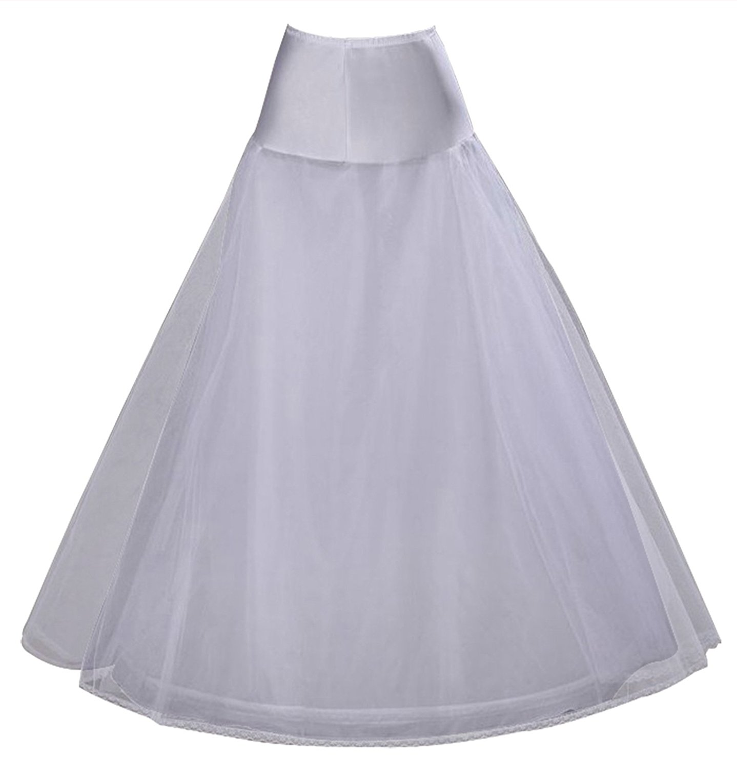 V.C.Formark Hoops Skirt Lace Bridal Petticoat White Crinoline Wedding Dresses Underskirt