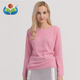 Latest women winter clothes pullover round collar knit 100% cashmere sweater