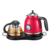 1.7L  Stainless Steel Electric Kettle Tea Set with glass teapot keep warm function