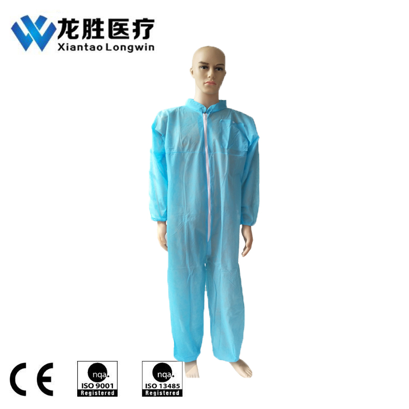 SMS Disposable Safety Clothing Coverall With Collar