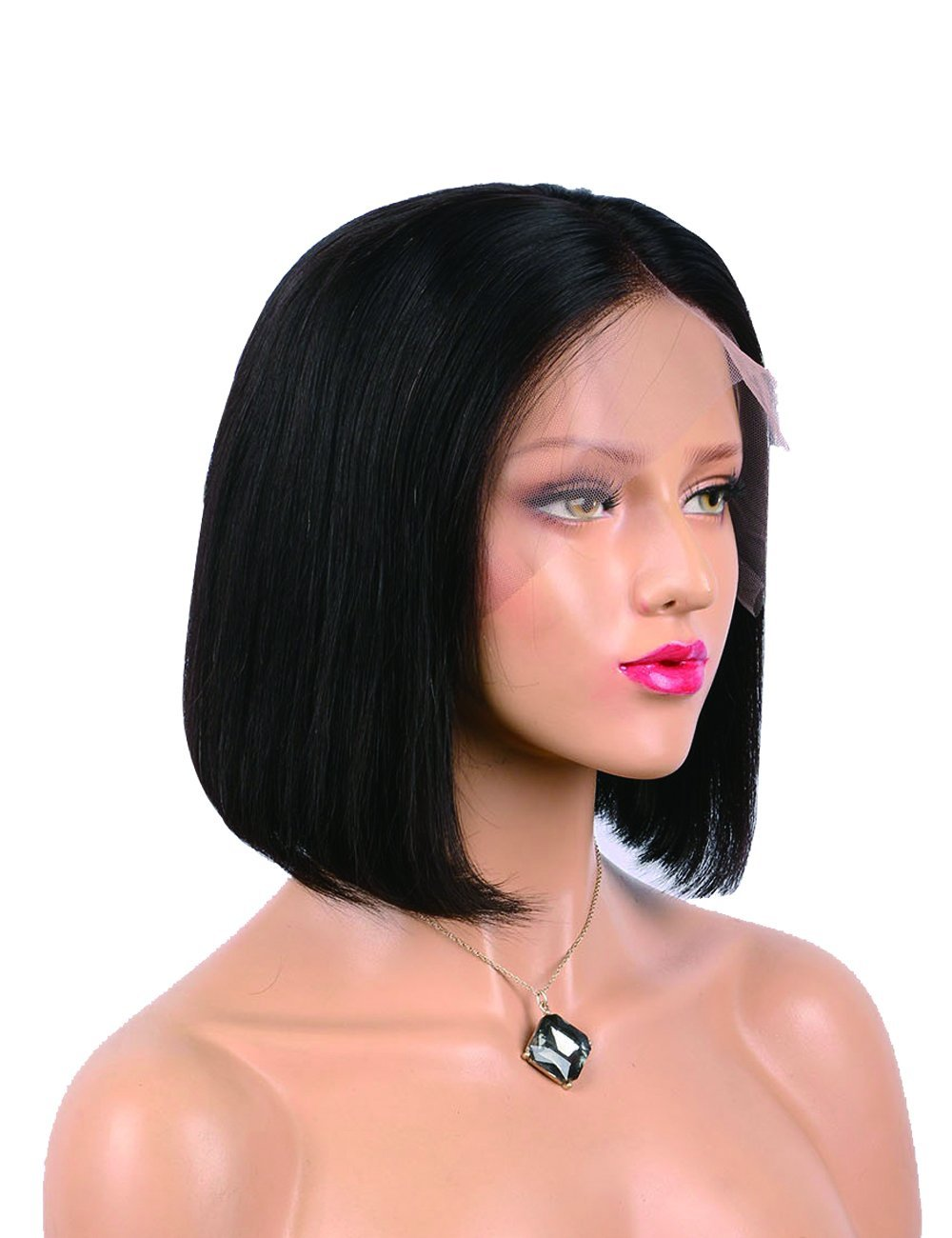 Get Quotations · Labeh Lace Front Wigs Human Hair Short Bob Wigs Human Hair  Glueless Bob Wigs 150% 3cffbd388d