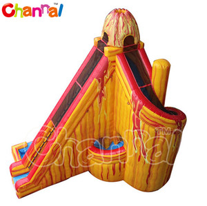 Twist inflatable volcano water slide, inflatable water slide outdoor water slide for sale
