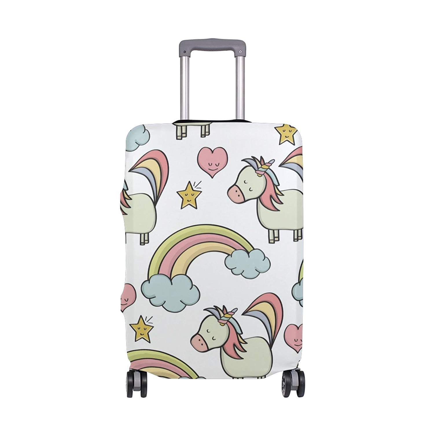 OREZI Luggage Protector Funny Unicorn Travel Luggage Elastic Cover Suitcase Washable and Durable Anti-Scratch Stretchy Case Cover Fits 18-32 Inches