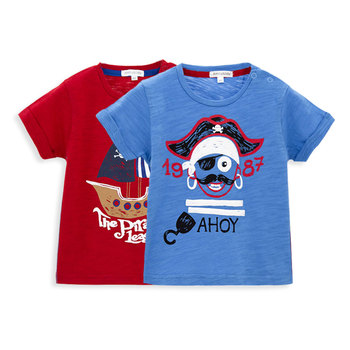 2018 New Summer Style Pirates Printing T Shirt Organic Cotton China Design Boy
