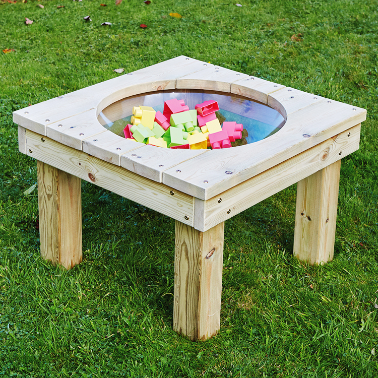 High quality garden furniture outdoor wood discovery table with lid