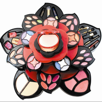 KMES smooth touch flower shape professional big makeup kit C-809