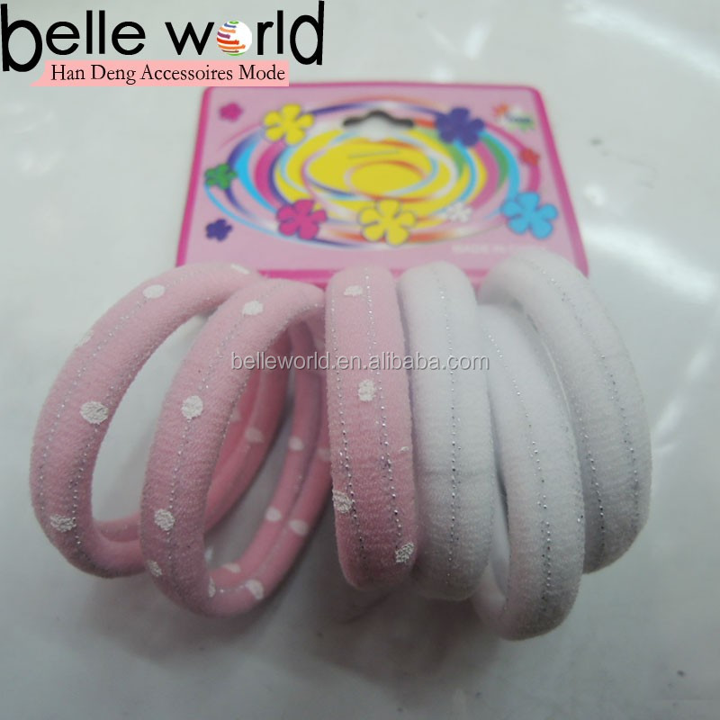 Wholesale Cheap Pink Ponytail Holder Set High Elasticity Girl Elastic Hair Bands