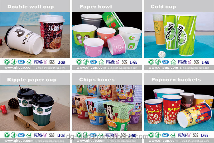 China Supplier Custom Printed Big Size 850ml 28oz Disposable Paper ...