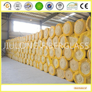 Glass wool roll roof insulating materials with shrinkage bags