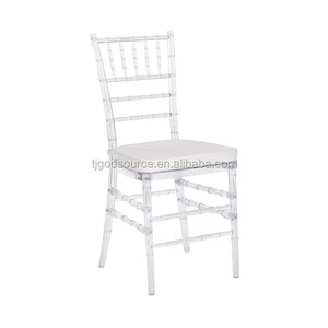 White Washed Garden Resin Chiavari Chairs