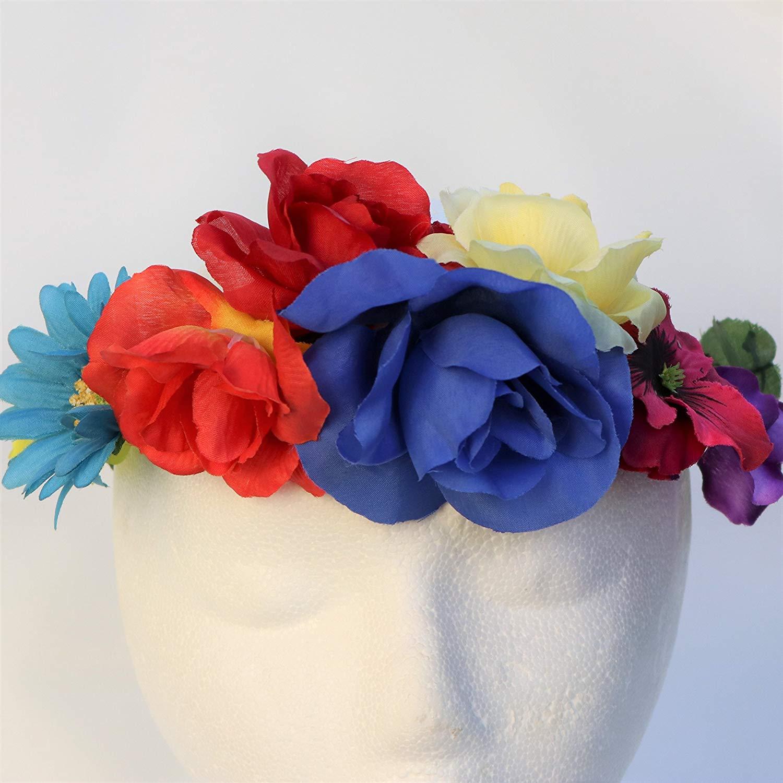 Blooms And Bugs Frida Kahlo Headband - Frida Kahlo Flower Crown - Frida Kahlo Halloween Costume