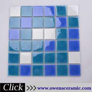 12x12'' blue and white ice crack ceramic decorate mosaic