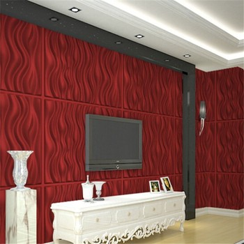 Waterproof Plastic 3d Wall Covering Panel Decoration With