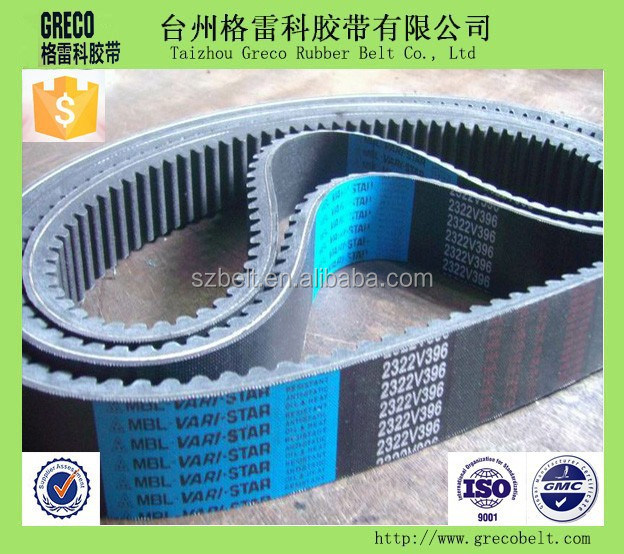 High qulity variable speed belt for industrial