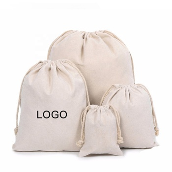 High Quality Custom Printed Canvas Cotton Muslin Drawstring Shoe Bag With Logo
