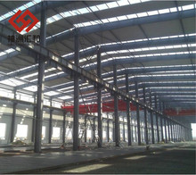 Prefabricated space frame steel structure for industrial workshop