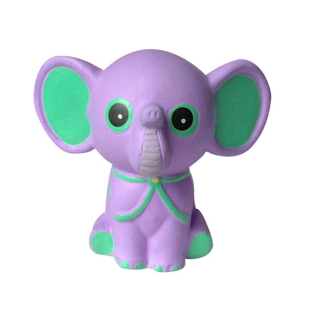 Jumbo Stress Reliever Squeeze - Squishies Adorable Elephant Slow Rising Cream Squeeze Scented Toys Charm Gifts - Stress Relief Toy - For Kids and adults - Home Decoration (Purple)