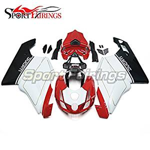 Sportfairings White Red Complete Fairing Kits For DUCAT 999 749 Monoposto 2003 2004 Motorcycle Injection ABS Plastic Fairings