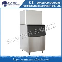 SUN TIER water cooling method used commercial ice maker / industrial ice cube machine trailer
