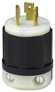 Leviton 2371 20 Amp, 250 Volt 3-Phase, NEMA L11-20P, 3P, 3W, Locking Plug, Industrial Grade, Non-Grounding - Black-White