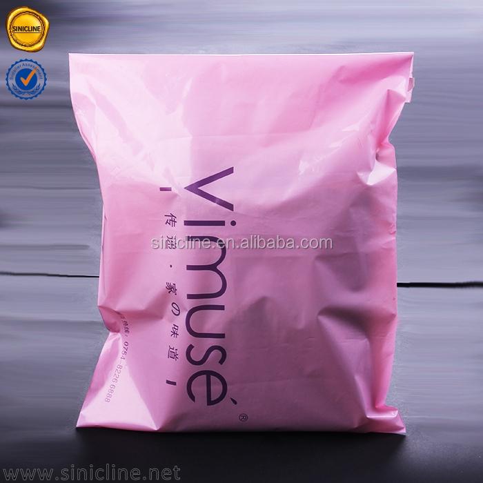 Sinicline 2018 ที่มีคุณภาพสูงสีชมพูที่กำหนดเองพิมพ์ถุงพลาสติกทางไปรษณีย์ที่มีโลโก้ที่กำหนดเอง
