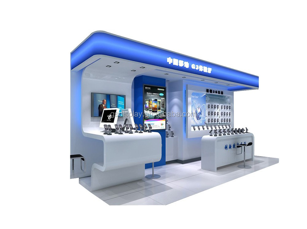 Hot Sale Shopping Mall Electronics Showroom Interior Design