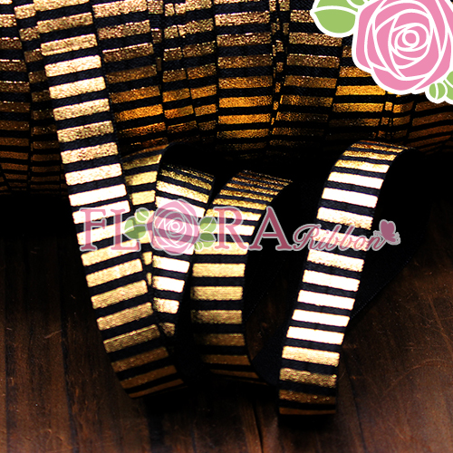 Special Gold Foil Fold Over Elastic Ribbon for Femal Hair Ties