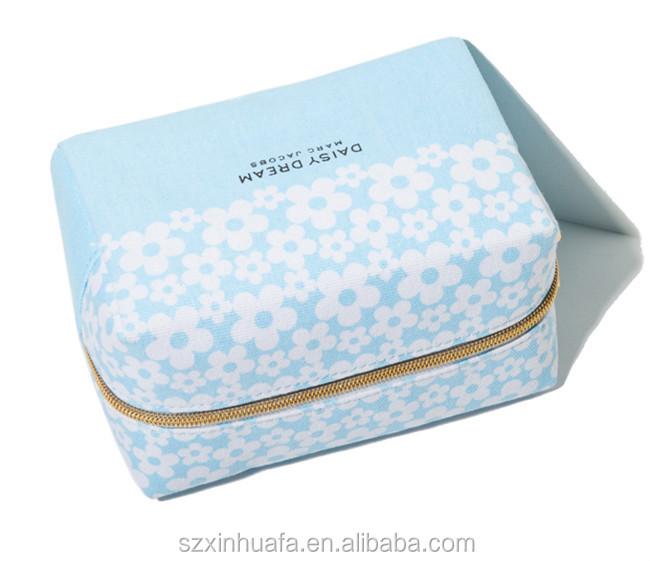 2015 Top Grade Hot Selling Wholesale Canvas Cosmetic Bag ,Cute Makeup Bags