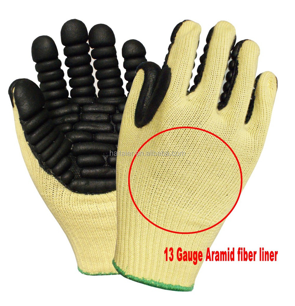 Htr Impact Resistant Foam Latex Glove 13 Gauge Aramid Fiber For ...