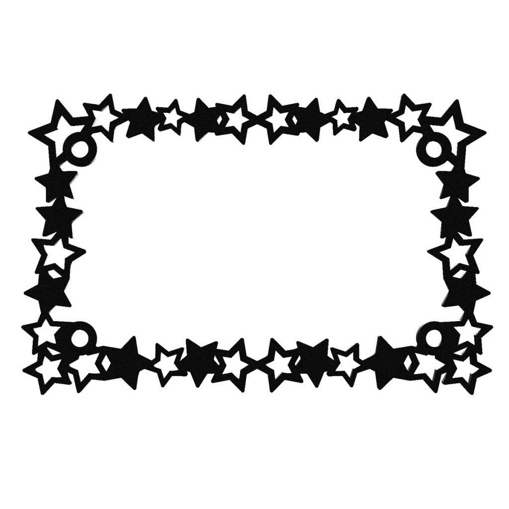 Black Powdercoat Canada Motorcycle License Plate Frame Star Stars Star - 1 Piece - Ferreus Industries - LIC-133-Black