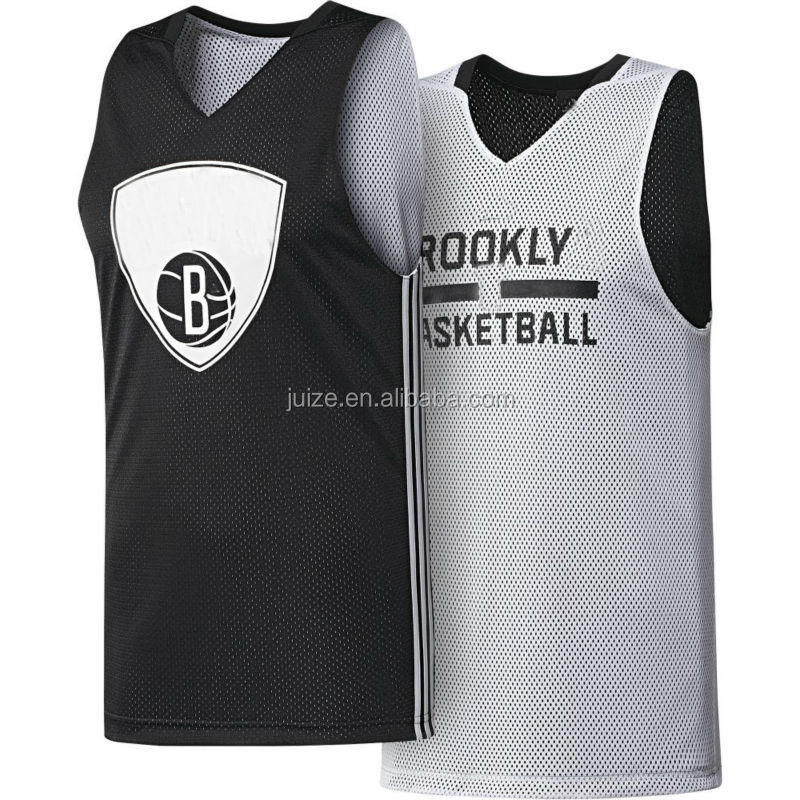 black and white reversible basketball jersey