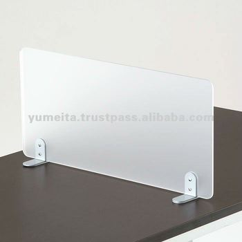 Japanese High Quality Office Furniture Frosted Acrylic Desk Screen