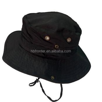 d20d20b42d62d Personalizado Militar Boonie Hat Cap Pesca Caça Preto - Buy Boonie ...