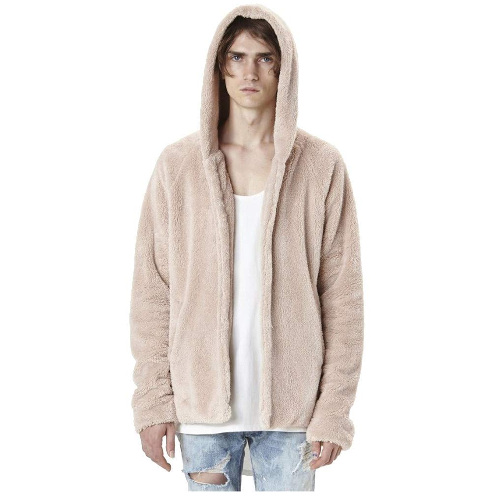 NRUTUP Mens Active Hoodies, Men's Fashion Warm Hooded Sweater Casual Loose Coat Jacket