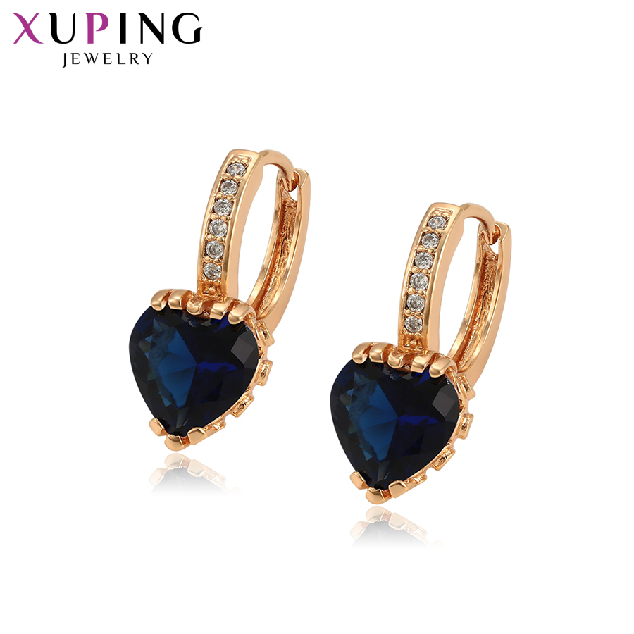 93825 Xuping Jewelry Fashion Hot Style18K Gold Plated Huggies hoop earrings