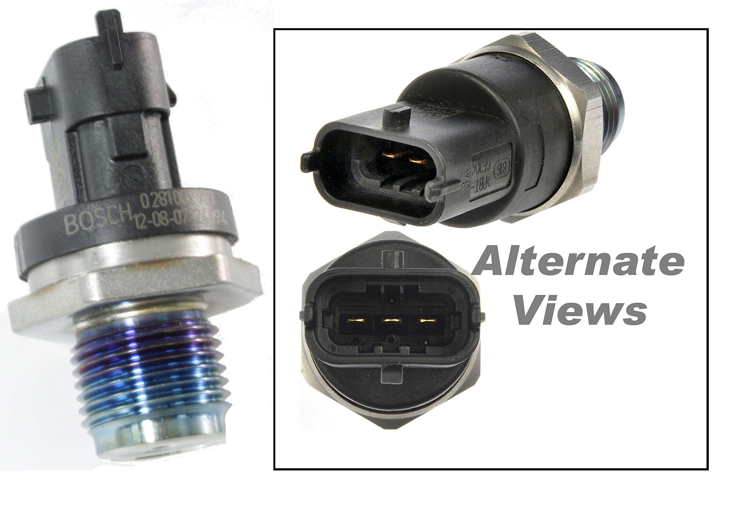 APDTY 015410 Fuel Rail High Pressure Sensor Fits 2003-2007 Dodge RAM 2500 3500 5.9L Cummins Diesel Trucks (Replaces 5093112AA, 5260246, 5297641, 97361561)