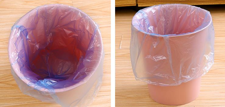 Promotional plastic customized dustbin bag garbage clear trash bags on roll