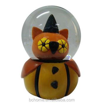 custom water globe resin water globe halloween pumpkin snow globes for gifts