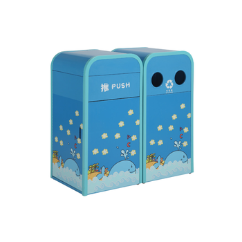 Customized Cute Outdoor Decorative Recycling Trash Container Bin
