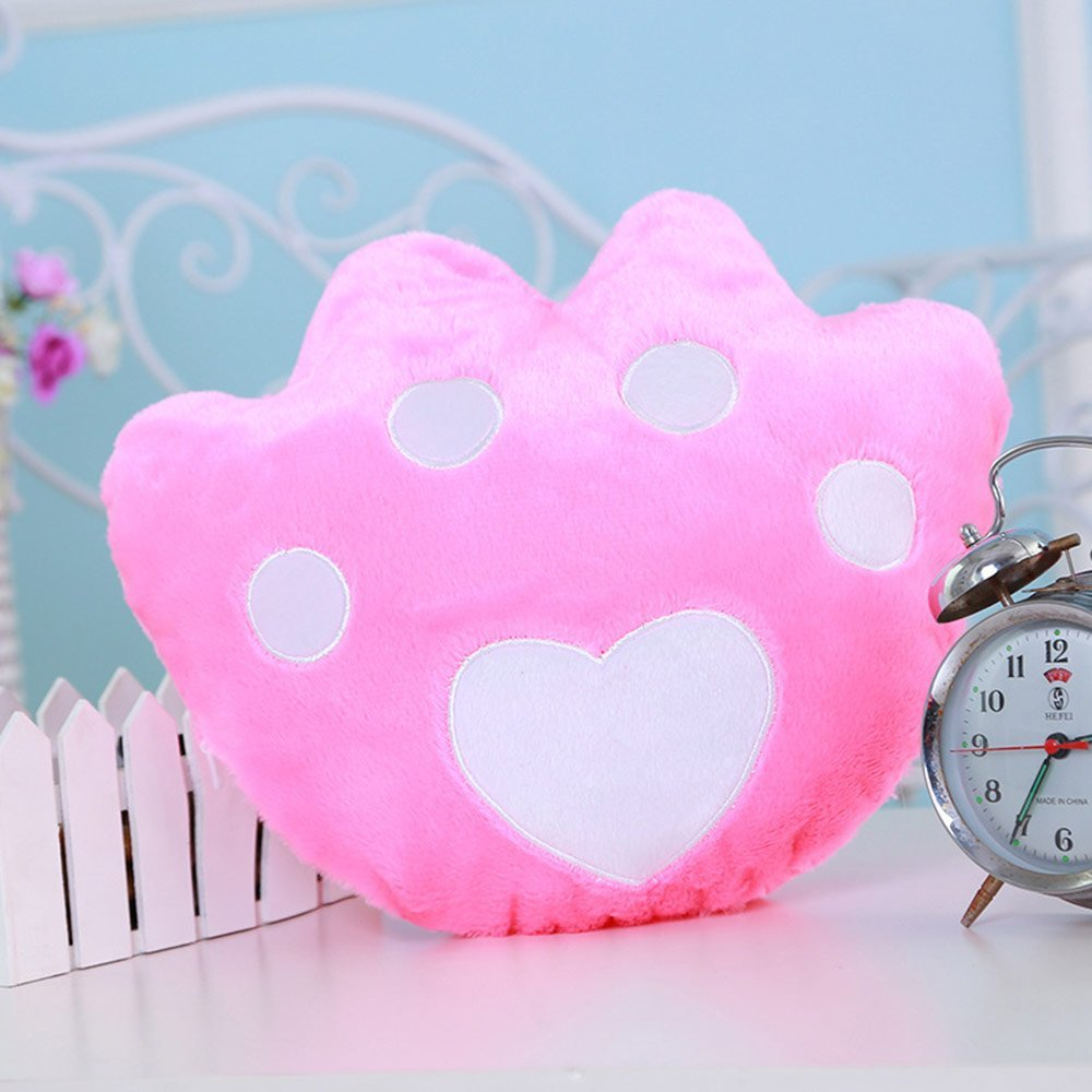 Creative Glowing LED 7 Colour Night Light Plush Pillow Stuffed Baby Toys(Pink)