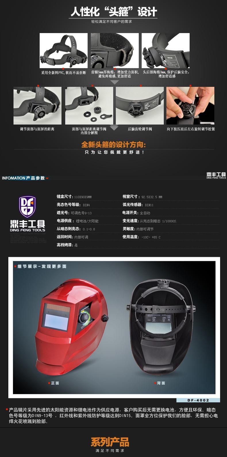Professional Flame Design Solar Welding Helmet Auto Darkening ...