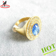 Latest big sapphire gold engagement wedding ring
