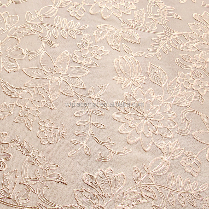 Rose Gold Color Embossed PVC Sheet Tablecloth in Roll 137cm x 180cm