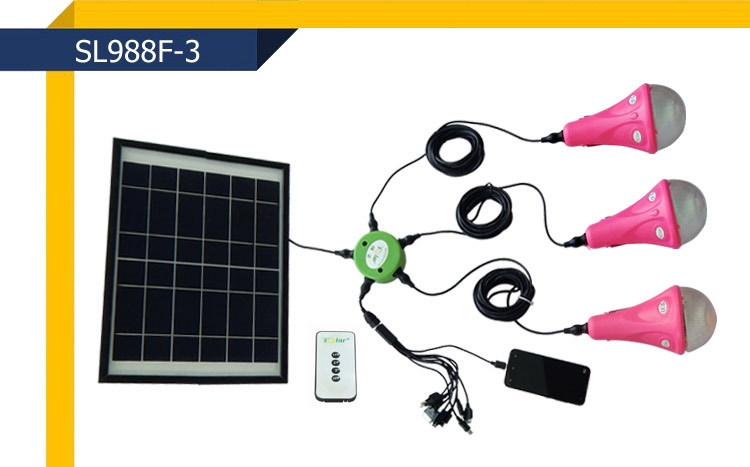 3w Bulbs Led Solar Home Lighting System In India Lights For