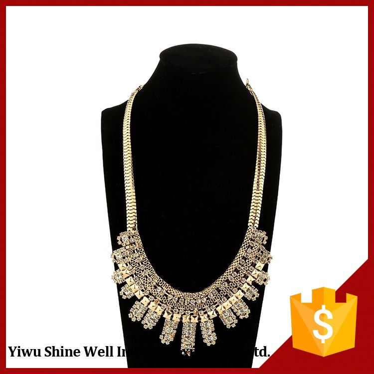 Top Fashion Simple Design Pendant Custom Alloy Necklace