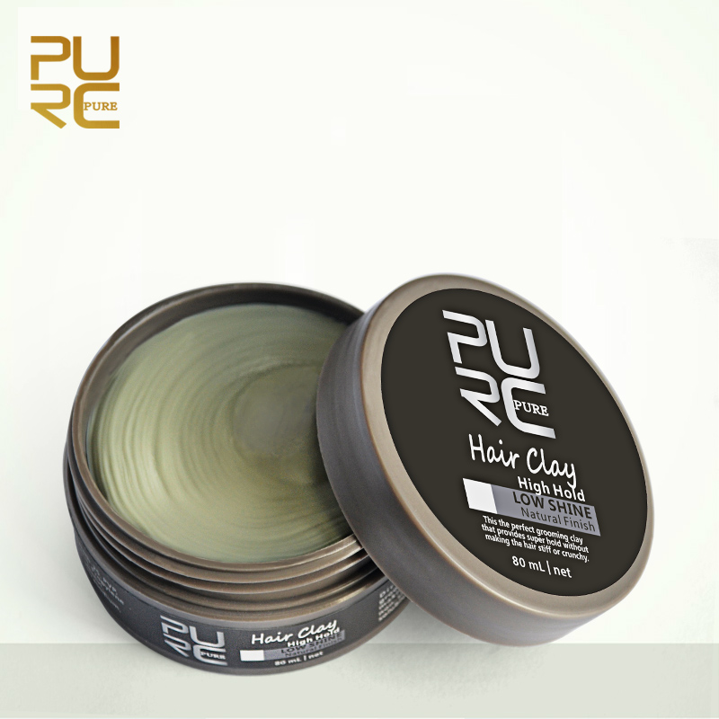 Professional hair styling products strong hold matte hair clay/ hair mud