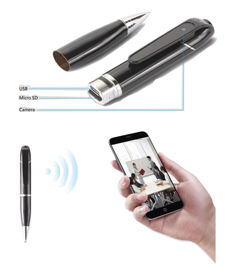 2015 New Product Hd 720p Wifi P2p Mini Hidden Pen Camera Video ...