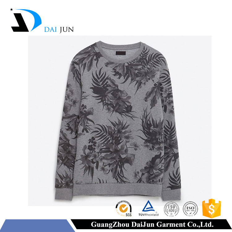 Daijun oem 100% cotton men high quality garment dyed wholesale crewneck sweatshirt