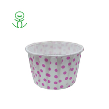 Pink Polka Dot stripe baking cupcake liners muffin cups cake Ice cream cups